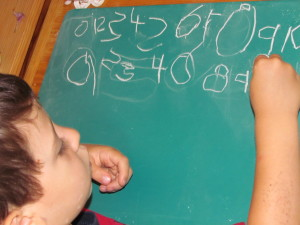 Los primeros números en un Colegio Montessori